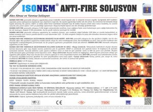 ISONEM® ANTI-FIRE SOLUSYON