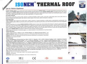 ISONEM® THERMAL ROOF