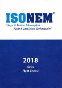 ISONEM 2018 Fiyat Listesi
