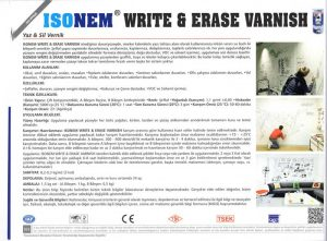 SONEM® WRITE & ERASE VARNISH